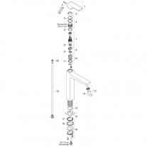 Baterie lavoar cu ventil 260, Hansgrohe, Metropol, Crom