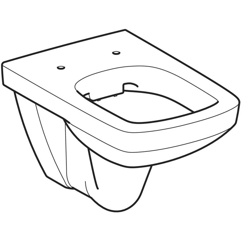 Vas WC suspendat Geberit, Selnova Square, rimfree, alb