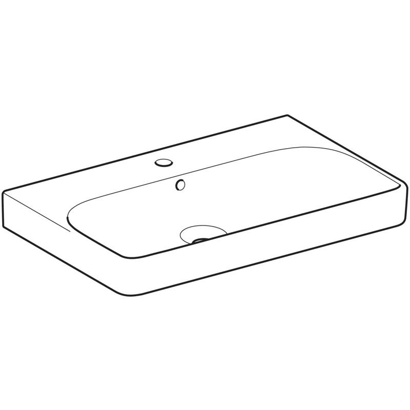 Lavoar Geberit, Smyle Square, 75 cm, alb