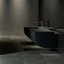 Capac vas WC Hatria, Next, soft close, negru mat