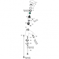 Baterie lavoar cu ventil push-open, Hansgrohe, Logis 70, Crom
