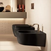 Vas WC suspendat Hatria, Fusion, rimless, negru mat