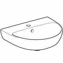 Lavoar Geberit, Selnova, 50 cm, alb