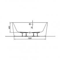 Cada freestanding Kolpasan, Dream, 170x75 cm