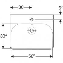 Lavoar Geberit, Smyle Square, 60 cm, alb