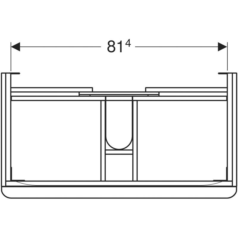 Mobilier suspendat Geberit, Smyle Square, pentru lavoar de 90 cm, alb