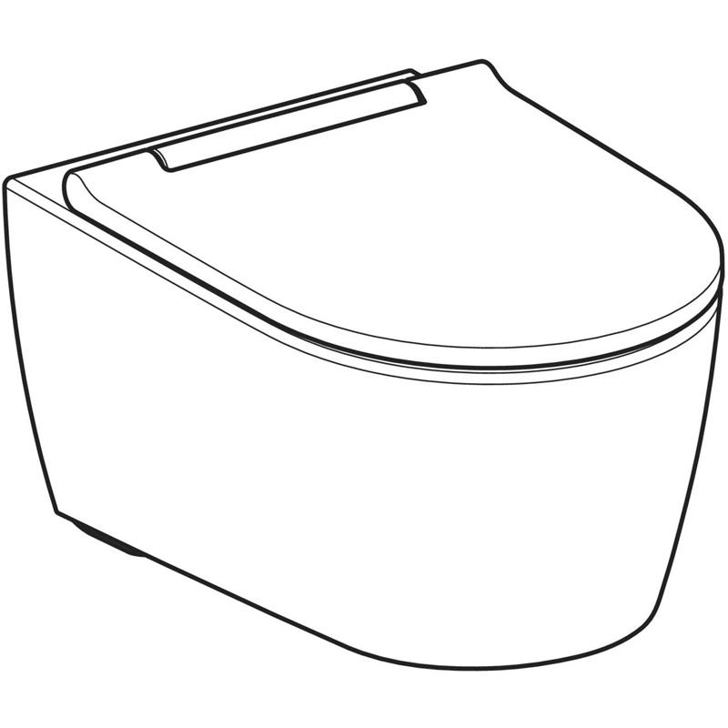 Vas WC suspendat Geberit, One, cu capac si spalare TurboFlush, alb