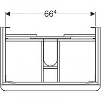 Mobilier suspendat Geberit, Smyle Square, pentru lavoar de 75 cm, alb