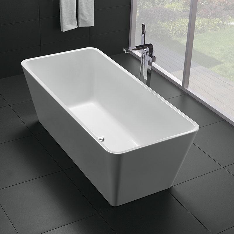 Cada freestanding, Florida, Quadro New 150, dreptunghiulara, cu instalatie completa, alb