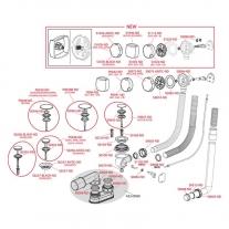 Sifon pentru cada automat, AlcaPlast, ventil cu preaplin, alb
