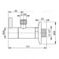 Robinet coltar, AlcaPlast, cu filtru 1/2, crom