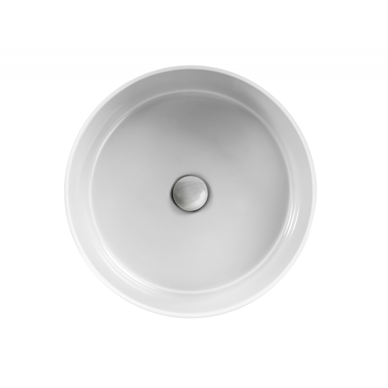 Lavoar pe blat Hatria, Happy Hour 07:00, rotund, 44 cm, alb,