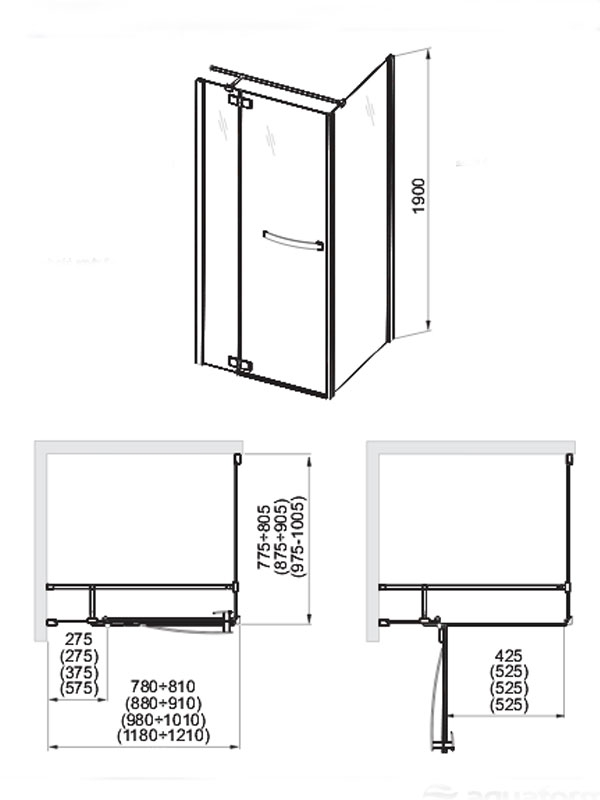 Desen tehnic usa cabina dus, HD Collection