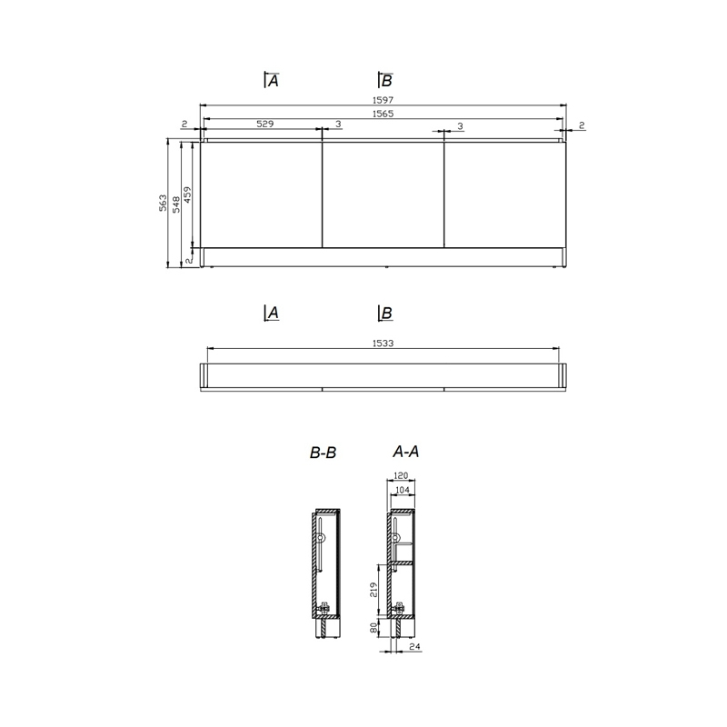 Mobilier pentru cada, 160 cm, gri, Smart