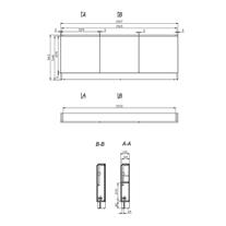 Mobilier pentru cada, 160 cm, alb, Smart