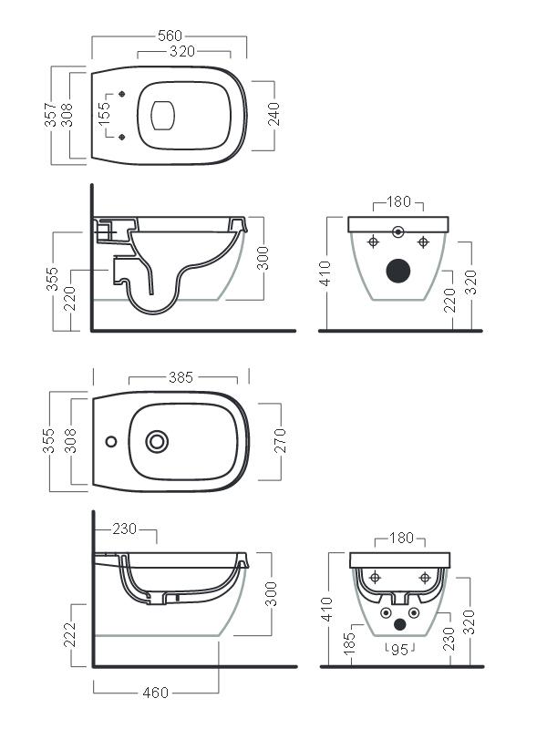 Desen tehnic bideu ABITO