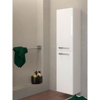 Dulap coloana Cersanit, Melar, suspendat, 144 cm, alb