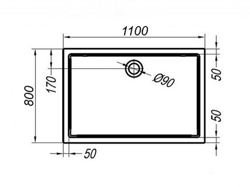 Desen tehnic, cadita de dus pentru inzidire, FLAMENCO