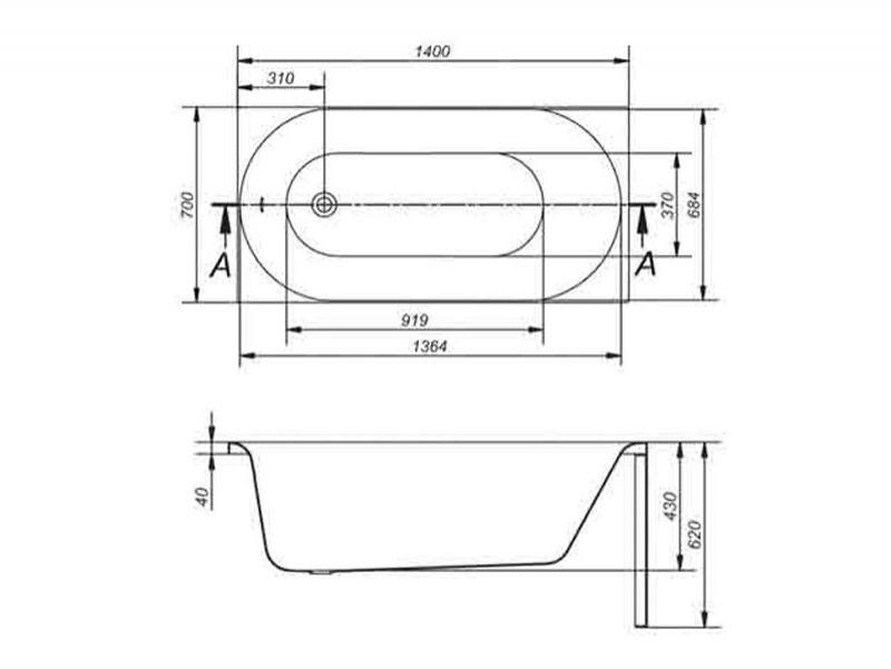 Desen tehnic cada Octavia de 140 cm