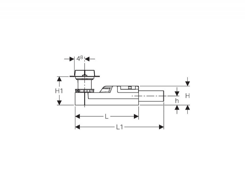 Desen tehnic sifon pt rigola CleanLine