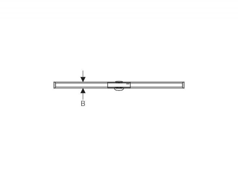 Capac pentru rigola dus Geberit, CleanLine 60, SLIM, montaj in pardoseala, 30-90 cm, negru/periat