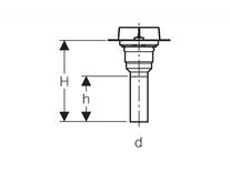 Desen tehnic sifon pt rigola CleanLine, iesire verticala