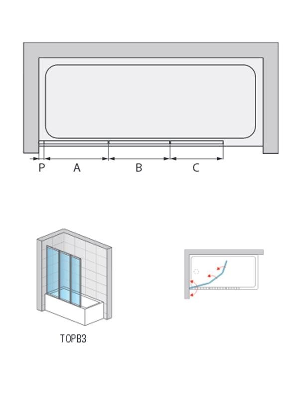 Desen tehnic paravan de cada, TOP LINE