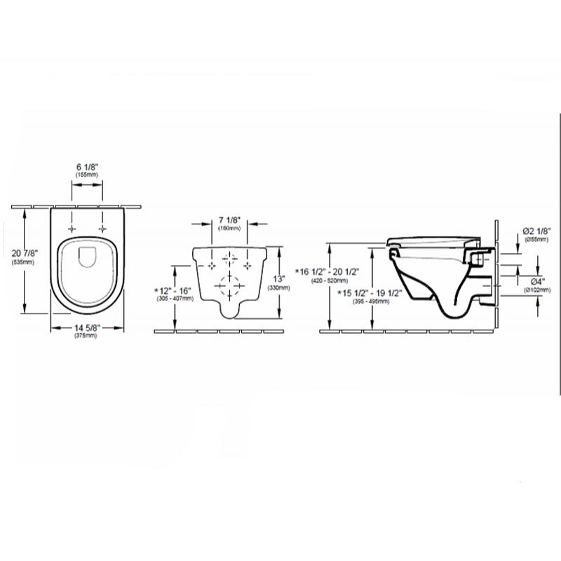 Schita-vas-WC-suspendat-Villeroy-Boch-Arhitectura