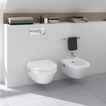 Ambianta cu Vas WC rotund si bideu Arhitectura