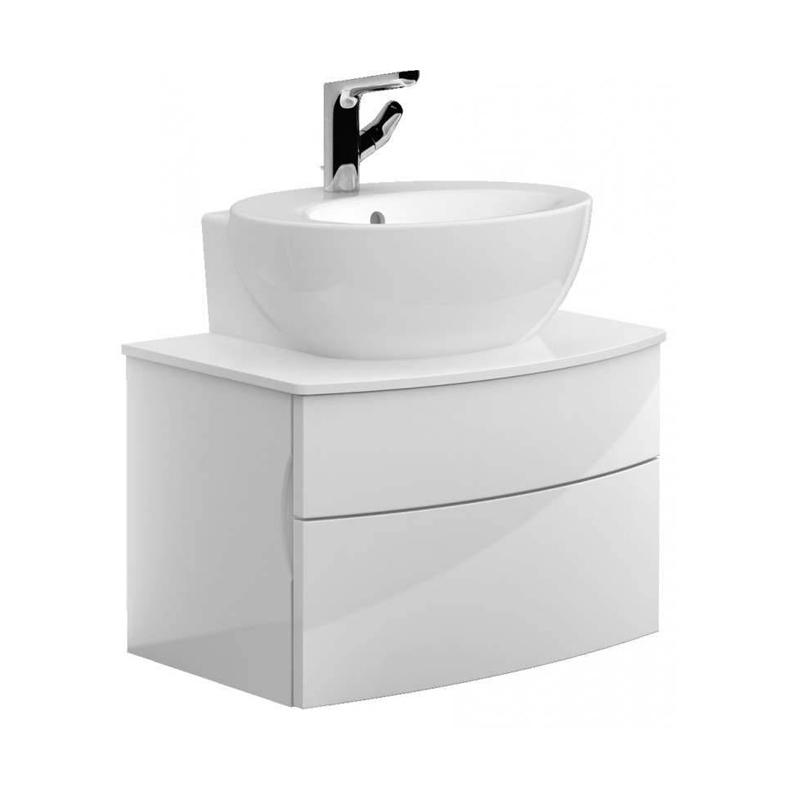 Lavoar pentru mobilier, oval, 68 cm, alb alpin, Aveo New Generation