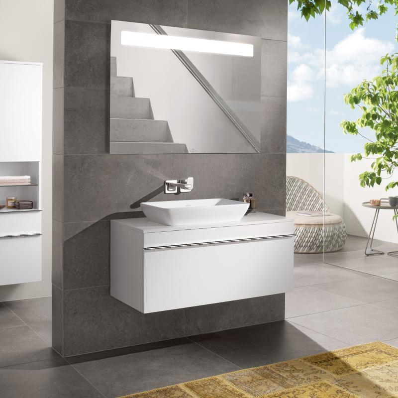 Lavoar dreptunghiular, pentru mobilier, 55 cm, alb alpin, Venticello
