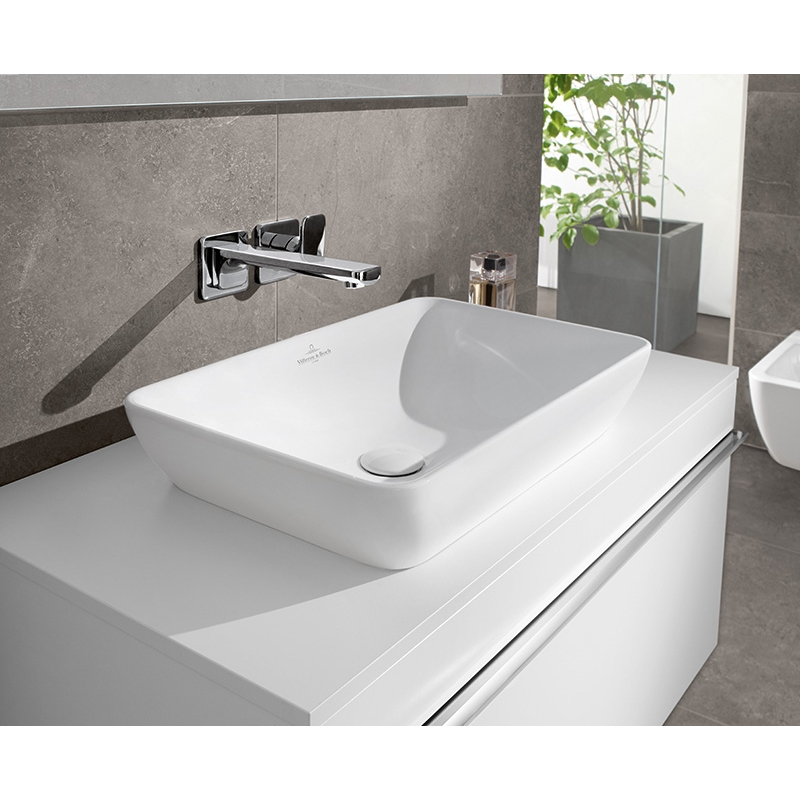 Venticello alb lavoar pt mobilier 550x360 mm 41135501 for Bosch and villeroy