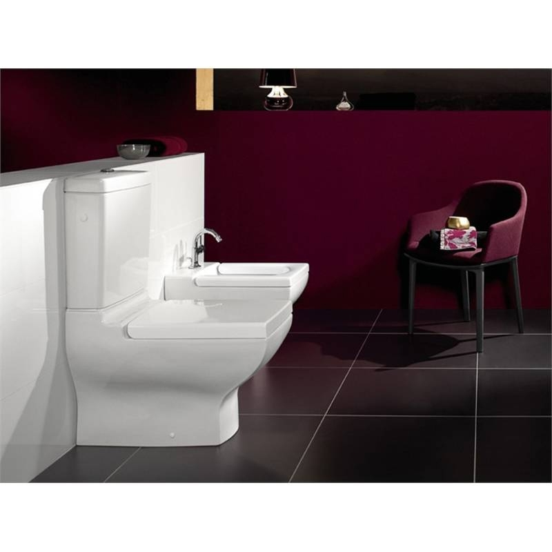 Vas WC dreptunghiular, stativ, monobloc, alb, La Belle