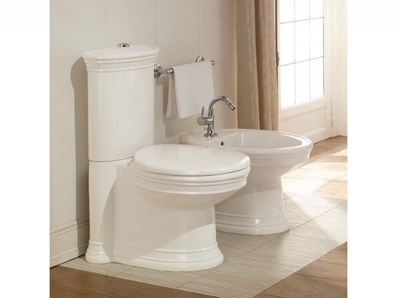 Vas WC stativ, monobloc, alb alpin, Amadea