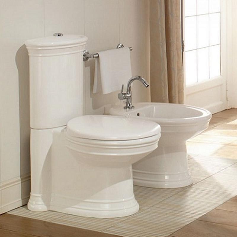 Rezervor pentru vas WC monobloc, alb, Amadea