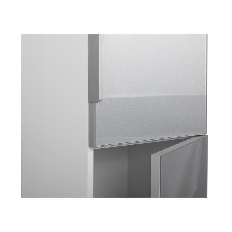 Dulap inalt suspendat, 140 cm, alb/gri, Stillo
