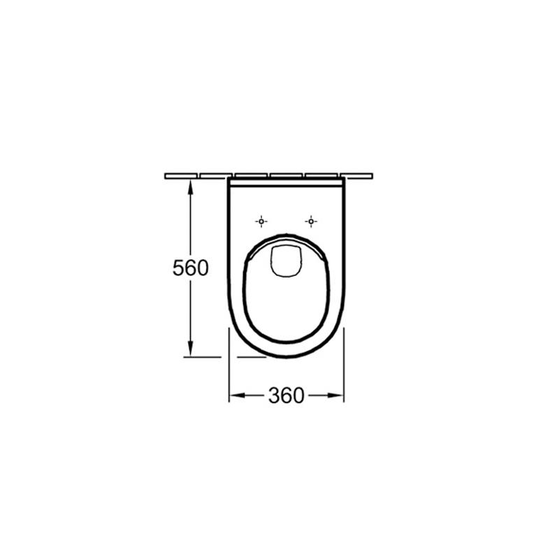Vas WC suspendat Villeroy & Boch, O.Novo, rotund, direct flush, alb
