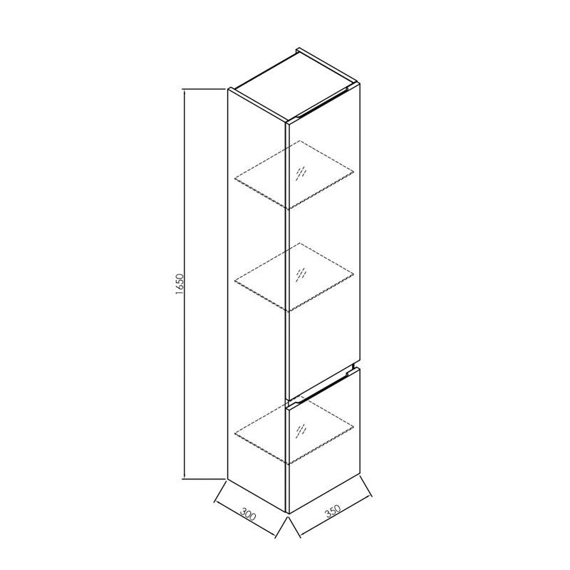 Dulap inalt suspendat Kolpasan, Iman, 165 cm, antracit