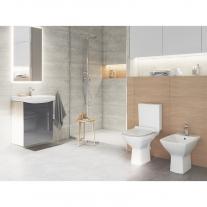 Set vas WC Cersanit, Carina New, compact, Rimless, cu rezervor si capac inclus