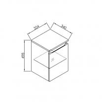 Dulap suspendat Kolpasan, Iman, 50 cm, antracit