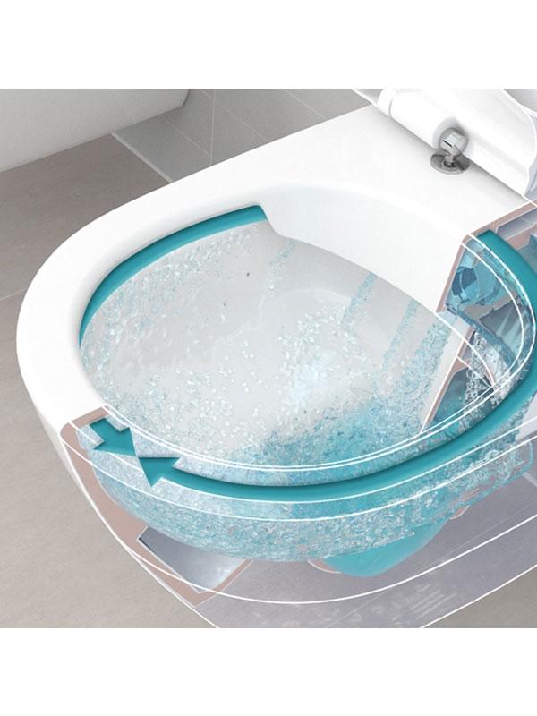 Vas WC monobloc stativ, direct flush, alb alpin, Subway 2.0