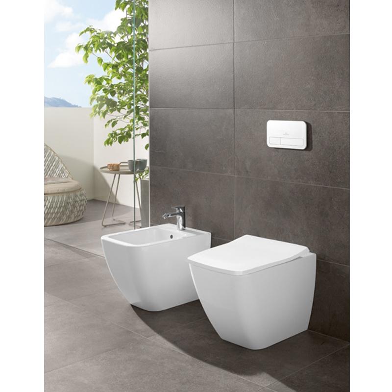 Vas WC stativ, direct flush, alb alpin, Venticello