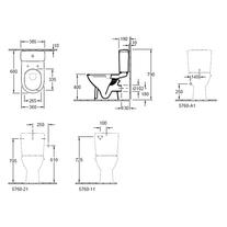 Vas WC rotund, monobloc stativ, direct flush, alb, O.Novo