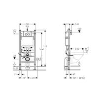 Schita tehnica pentru Set prepack Duofix = set fixare + set izolare+ clapeta crom lucios