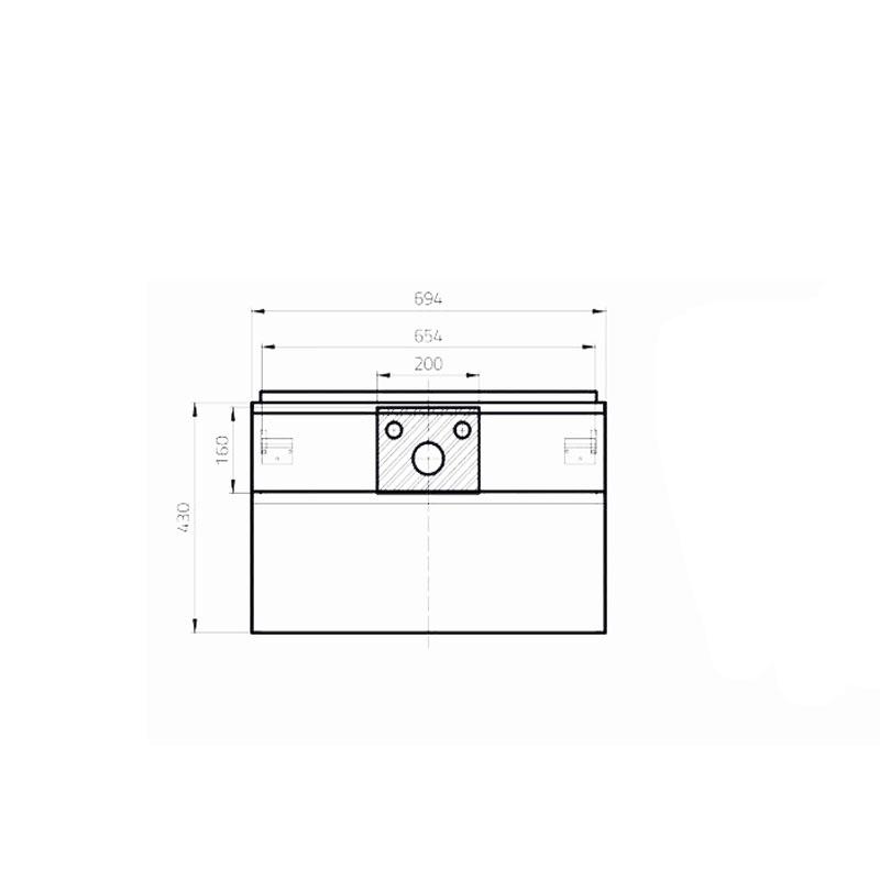 Mobilier suspendat Opoczno, Metropolitan, pentru lavoar, cu doua sertare, 70 cm, front stejar + lateral cenusiu