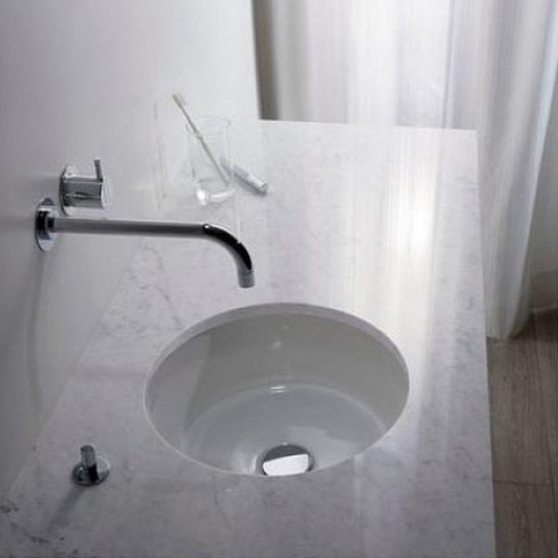 Lavoar sub blat, rotund, 34 cm, alb alpin, Arhitectura