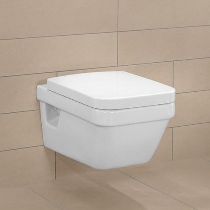 Capac WC, dreptunghiular, alb, Arhitectura