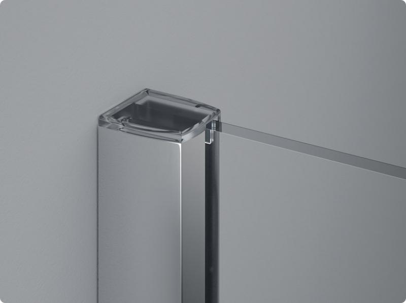 Paravan dus, profil crom, sticla transparenta, 8 mm