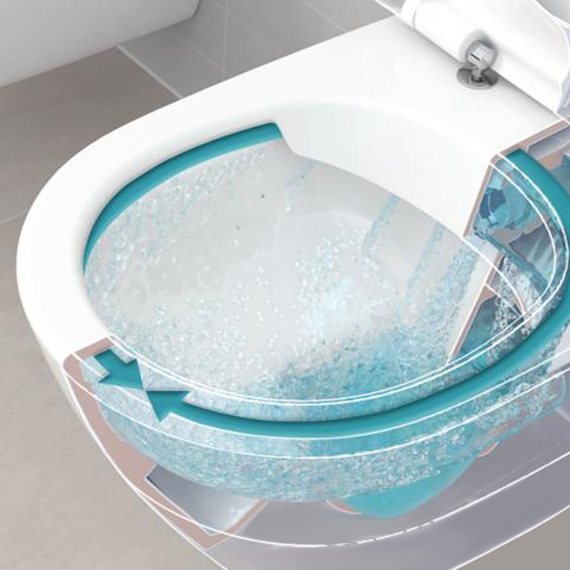 Set vas WC suspendat, direct flush, cu capac soft close, alb, O.Novo