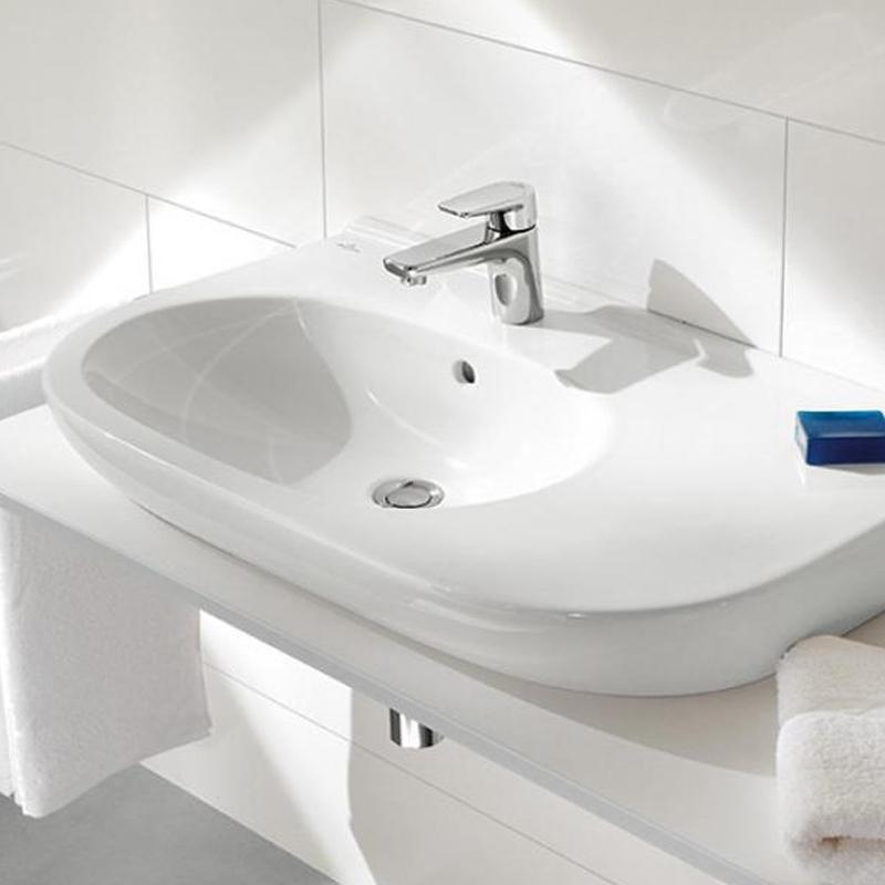 Lavoar suspendat, semirotund, 80 cm, alb alpin, O. Novo